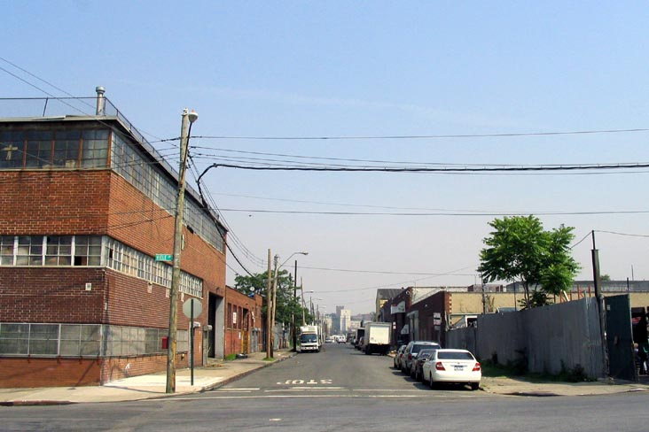 Looking North Up Casanova Street From Barretto Point Park, Hunts Point, The Bronx