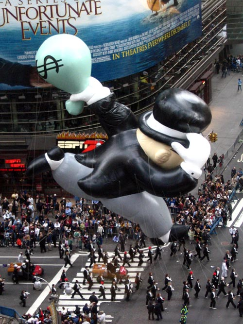 Monopoly Moneybags Balloon, Macy's Thanksgiving Day Parade, Times Square, Midtown Manhattan, November 25, 2004