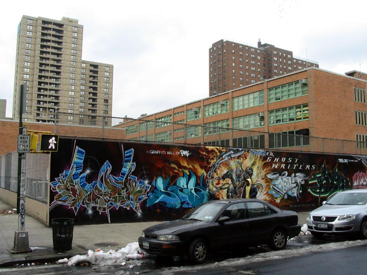 Graffiti Hall of Fame, 106th Street and Park Avenue, East Harlem, Manhattan