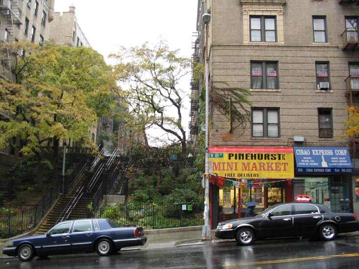 Pinehurst Mini Market, North Side of 181st Street at Pinehurst Avenue, Washington Heights, Manhattan