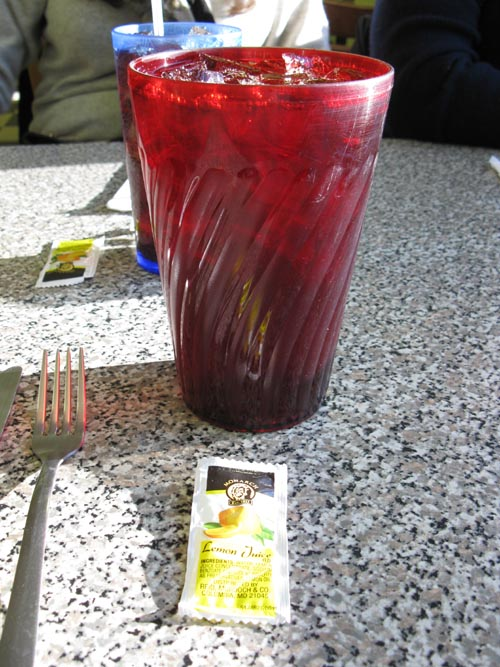 Iced Tea, Lewis Family Diner, Betty Beavers Truck Stop & Diner, Stowersville Road, Lewis, New York