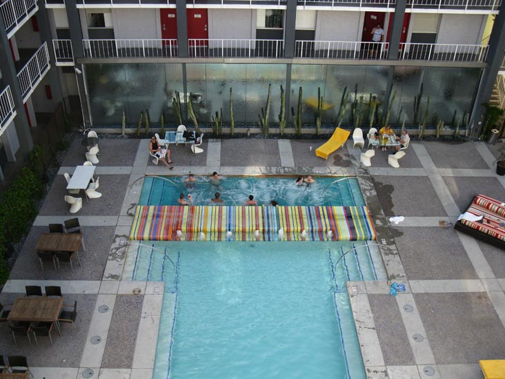 Swimming Pool From Rooftop Lounge, The Clarendon Hotel, 401 West Clarendon Avenue, Phoenix, Arizona