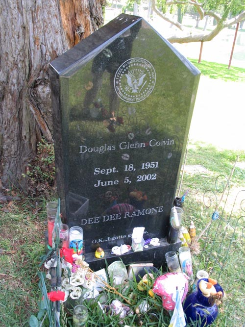 Dee Dee Ramone Grave, Hollywood Forever Cemetery, 6000 Santa Monica Boulevard, Hollywood, California