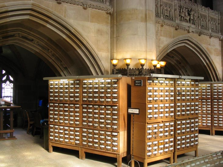 Card Catalogs, Sterling Memorial Library Nave, Yale University, New Haven, Connecticut