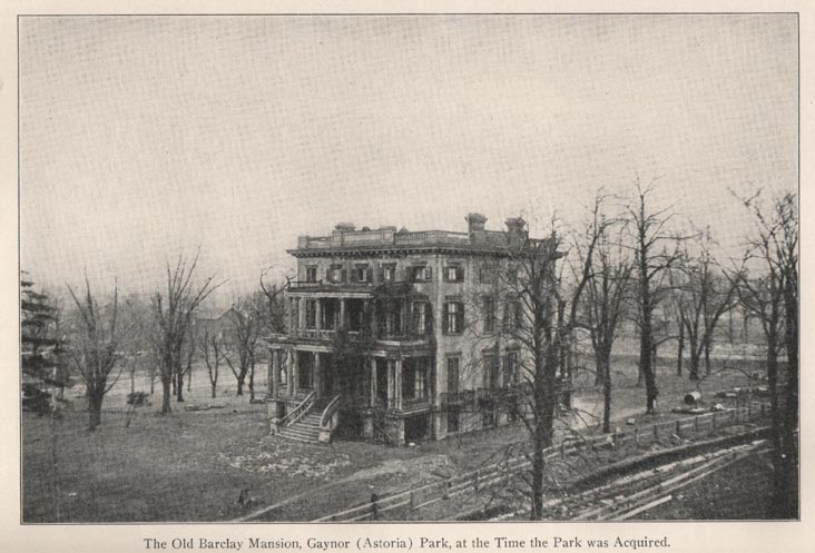 Old Barclay Mansion, Astoria, Queens, From 1913 New York City Parks Annual Report
