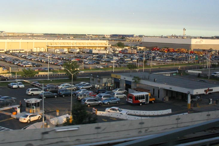 John F. Kennedy International Airport from the JFK AirTrain, Queens, New York