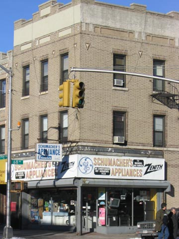 Schumacher's Appliances, 68th Avenue and Fresh Pond Road, NE Corner, Ridgewood, Queens