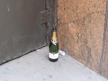 Champagne Bottle, 39th Street, Midtown Manhattan, January 2, 2006