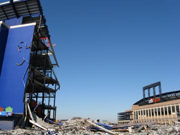 Shea Stadium Demolition, Flushing Meadows-Corona Park, Queens, February 1, 2009