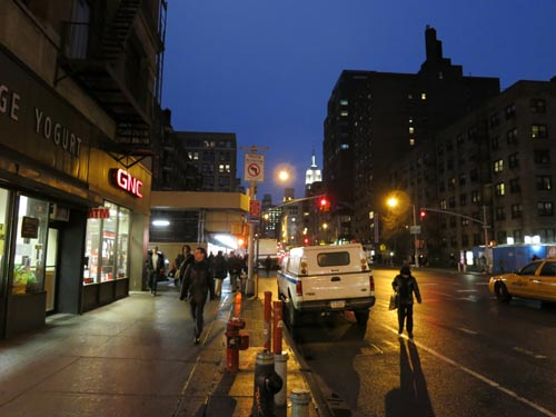 Sixth Avenue and 15th Street, February 16, 2012, 5:53 p.m.