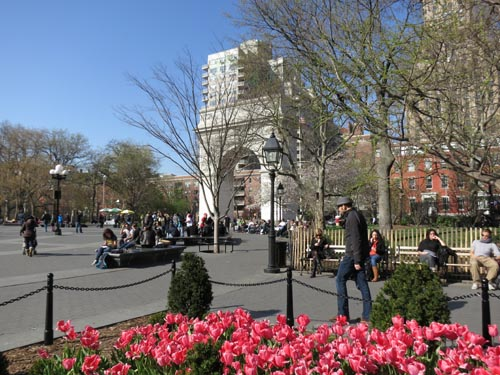 Washington Square Park, Greenwich Village, Manhattan, March 28, 2012, 4:07 p.m.