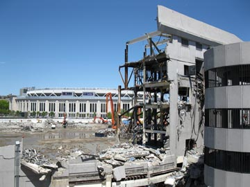 Old Yankee Stadium Demolition From 153rd Street Garage, The Bronx, April 29, 2010, 1:09 p.m.