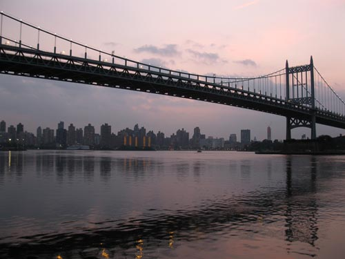 Robert F. Kennedy/Triborough Bridge From Astoria Park, Astoria, Queens, June 21, 2011, 8:40 p.m.