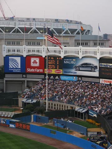New Yankee Stadium From Tier Reserved Section 29, New York Yankees vs. Baltimore Orioles, Yankee Stadium, The Bronx, July 28, 2008