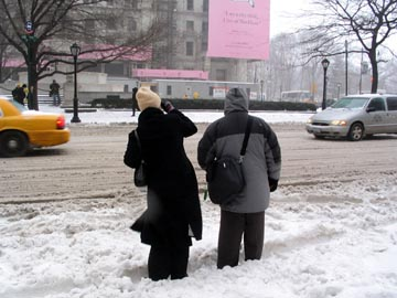 First Big Storm of the Year, Fifth Avenue and 59th Street, February 14, 2007, 2:15 p.m.