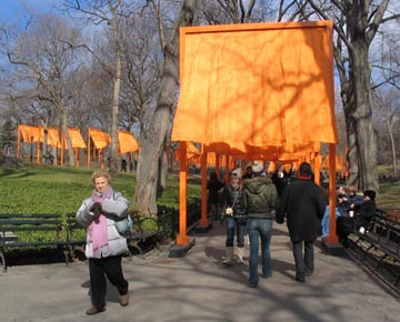 Near the 65th Street Transverse, Christo and Jeanne-Claude's Gates Project: Opening Day