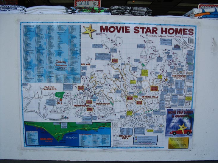 Hollywood Stars Homes Map Here's What a Map to the Stars' Homes Looked Like in 1937   Curbed LA