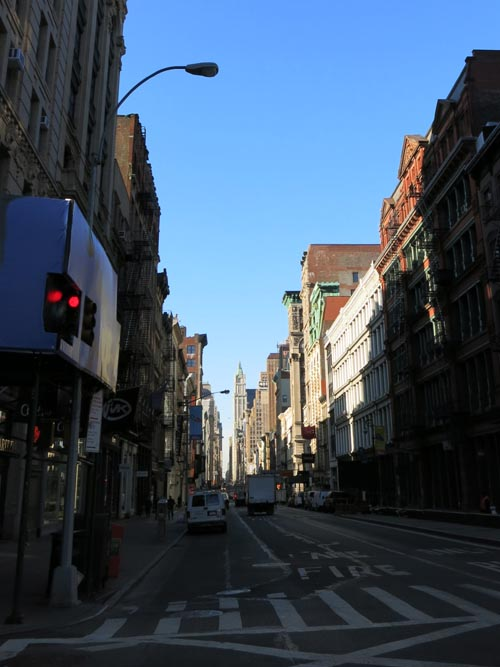 Looking South Down Broadway From Spring Street, Soho, Manhattan, March 23, 2015, 8:54 a.m.