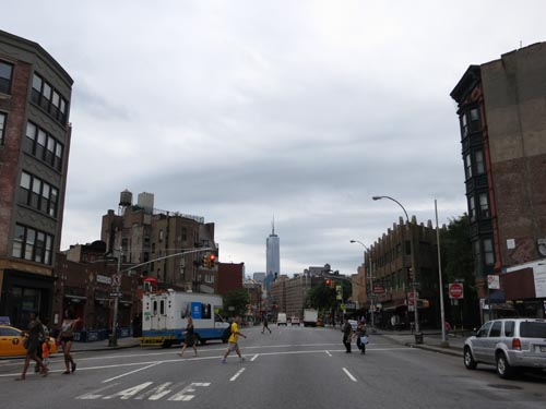 Looking South Down Seventh Avenue From Christopher Street, Greenwich Village, Manhattan, August 7, 2013, 9:46 a.m.