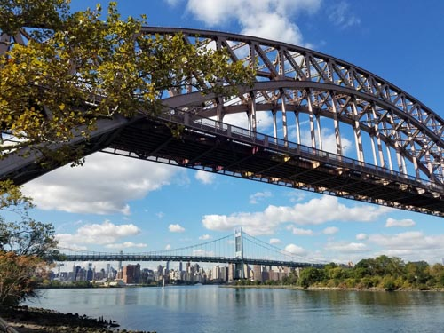Hell Gate and Triboro Bridges, Astoria, Queens, September 29, 2017, 11:05 a.m.