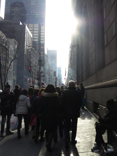 Fifth Avenue at 54th Street, Midtown Manhattan, December 31, 2012, 1:56 p.m.